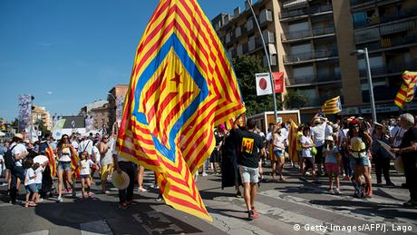 Spanien Protest für Unabhängigkeit in Katalonien (Getty Images/AFP/J. Lago)