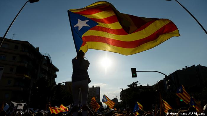 Spanien Protest für Unabhängigkeit in Katalonien