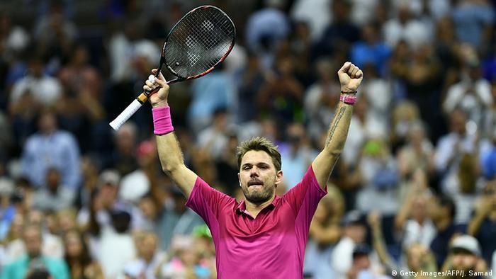Switzerland's Wawrinka defeats Djokovic at US Open