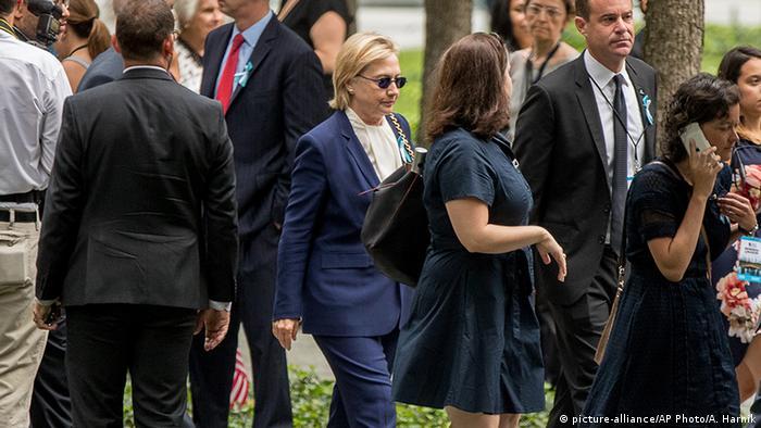 USA New York - 15 Jahre nach 9/11 Gedenktag - Hilary Clinton