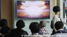 Südkorea TV-Programm Atomtest Nordkorea
