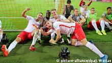 Bundesliga, RB Leipzig - Borussia Dortmund Spieler feiern Sieg