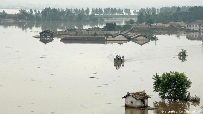 Nordkorea Anju City Überschwemmung im Nordwesten