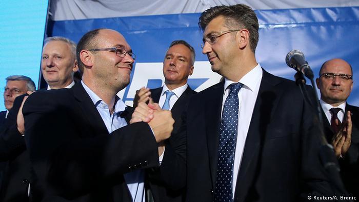 Kroatien Zagreb Wahlen Andrej Plenkovic (HDZ)