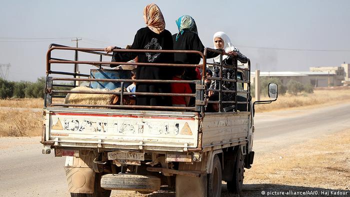 Syrien Zivilbevölkerung bei Hama