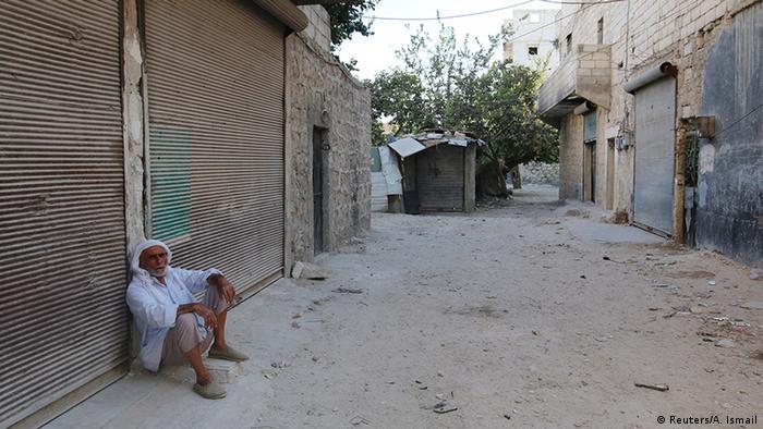 Пустые улицы в Алеппо