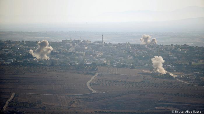Syrien Detonationen nahe den Golanhöhen (Reuters/Baz Ratner)