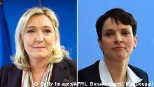 Bildkombo Marine Le Pen und Frauke Petry