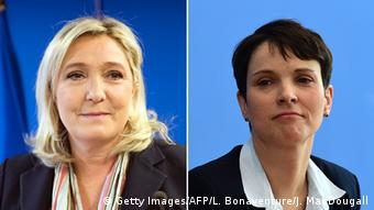 Marine Le Pen and Frauke Petry (Getty Images/AFP/L. Bonaventure/J. MacDougall)