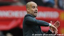 Fußball Manchester United - Manchester City Josep Guardiola