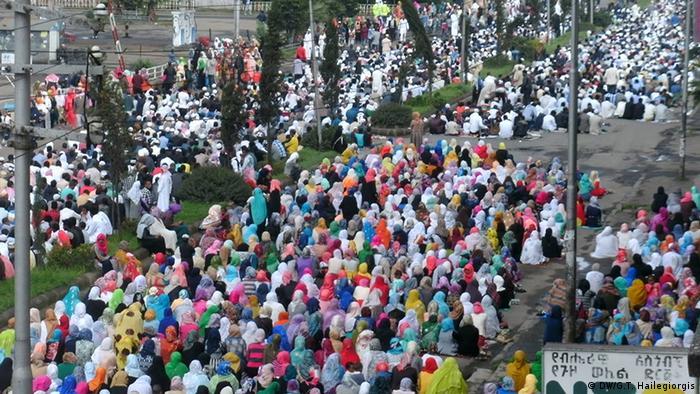 Äthiopien Islamisches Opferfest in Addis Abeba.