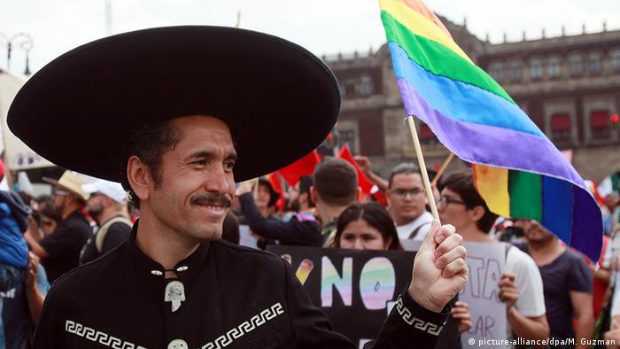 Protestas en México contra la homofobia.