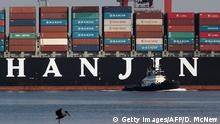 USA Containerschiff Hanjin Greece