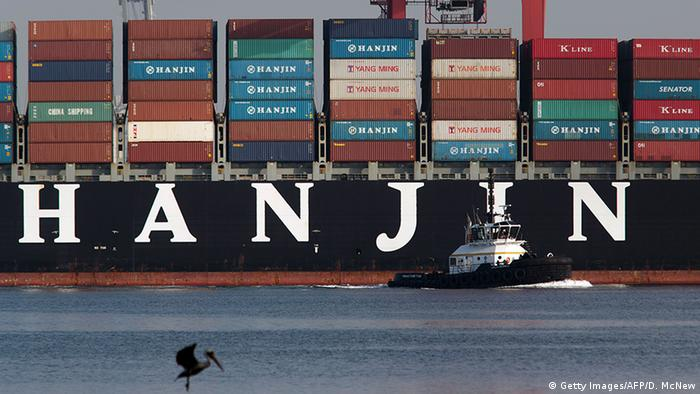 Hanjin Containerschiff (Foto: Getty Images/AFP/D. McNew)