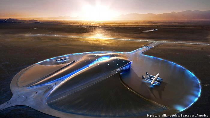 Weltraumtourismus Projektskizze Spaceport America (picture-alliance/dpa/Spaceport America)