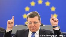Frankreich Europaparlament Jose Manuel Barroso
