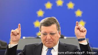 Frankreich Europaparlament Jose Manuel Barroso (picture-alliance/dpa/P. Seeger)