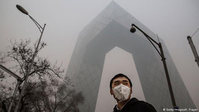 China Atemschutzmasken in Peking (Getty Images/K. Frayer)