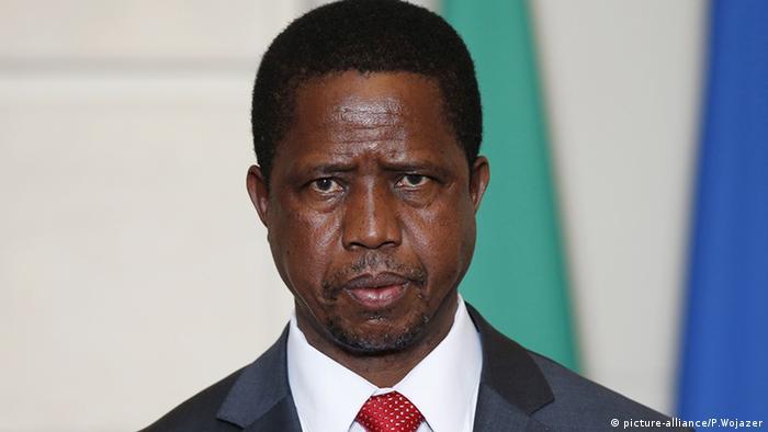 Edgar Lungu rais wa Zambia (picture-alliance/P.Wojazer)