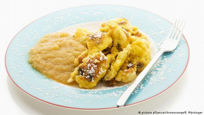 Kaiserschmarrn com compota de maçã