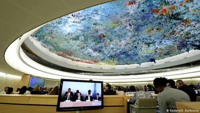 Schweiz Tagung UN-Menschenrechtsrat in Genf (Reuters/D. Balibouse)