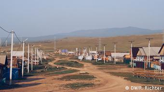Russland Dorf Chuzhir auf der Insel Olchon