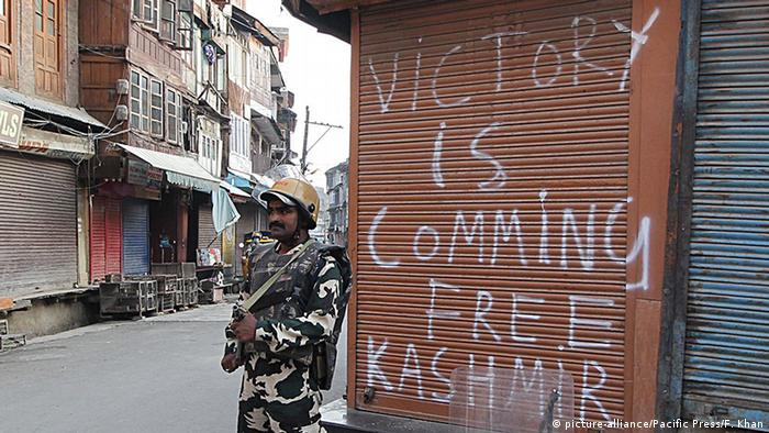 Indien Protesten in Kashmir