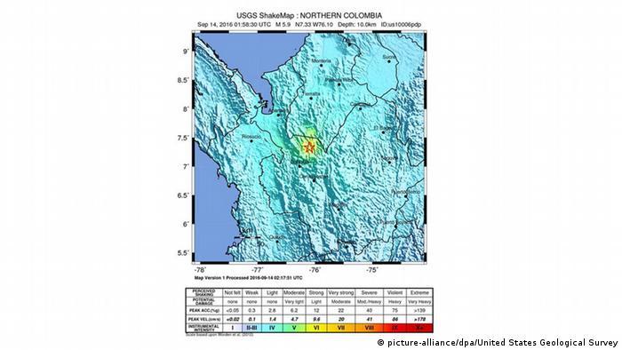 La ubicación del sismo.