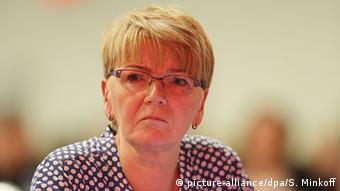 Η Γκάμπι Τσίμερ, επικεφαλής της Κ.Ο. της Ευρωπαϊκής Αριστεράς