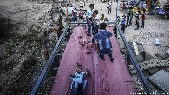 Syrien Waffenstillstand Eid Al Adha Kinder in Douma