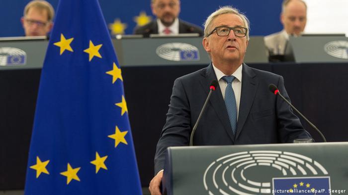Europäisches Parlament - Jean-Claude Juncker, Rede zur Lange der Union (picture-alliance/dpa/P. Seeger)