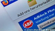 Browser Add-on Adblock Plus (picture-alliance/dpa/A. Warnecke)