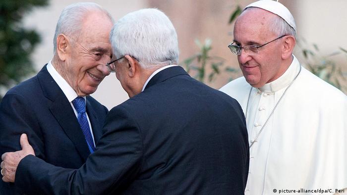 Shimon Peres, Mahmoud Abbas e papa Francisco no Vaticano