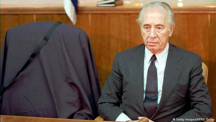 Israel 1995 - Premierminister Peres (Getty Images/AFP/J. Delay)