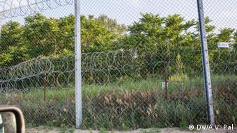 Grenze Ungarn - Serbien - Zaun