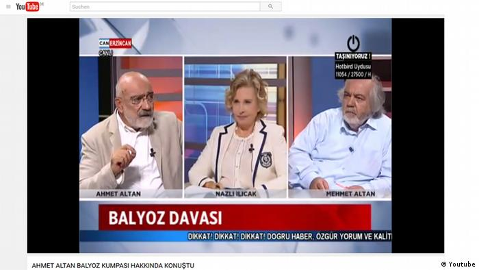 Screenshot Youtube Journalisten Ahmet Altan Nazlı Ilıcak und Mehmet Altan (Youtube)