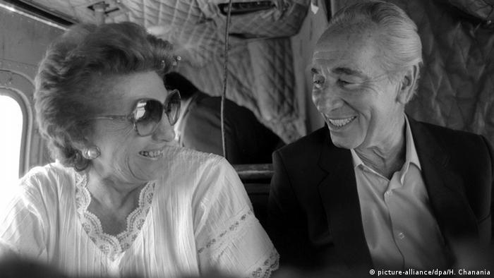 Sonya Peres e Shimon Peres