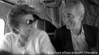 Israel Sonia Peres y Shimon Peres (picture-alliance / dpa / H. Janania)