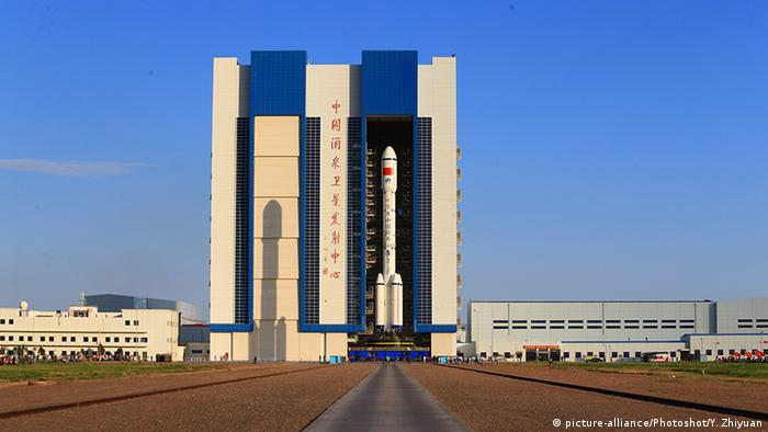 China Vorbereitung Start des Raumlabors Tiangong 2