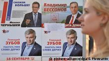 Russland Parlamentswahlen Wahlkampf Wahlplakate