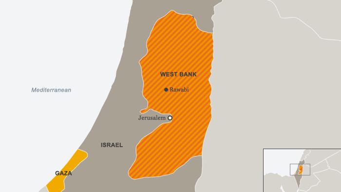 Karte West Bank Rawabi Englisch