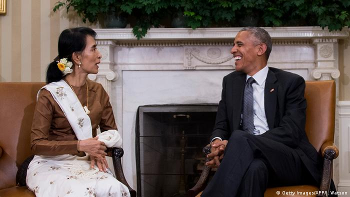 Aung San Suu Kyi and Barack Obama