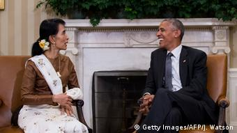 USA Besuch Aung San Suu Kyi bei Obama (Getty Images/AFP/J. Watson)