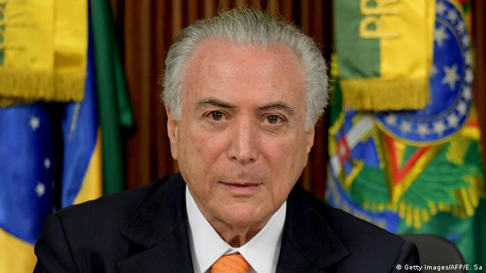 Brasilien Präsident Michel Temer (Getty Images/AFP/E. Sa)