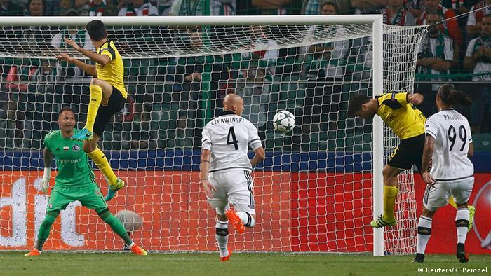 Фрагмент матча Легия - Боруссия
