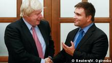 Ukraine Boris Johnson und Pawlo Klimkin