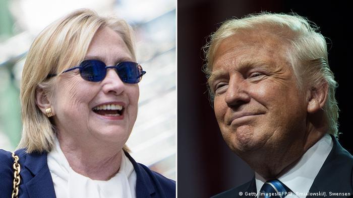USA Bildkombo Hillary Clinton und Donald Trump