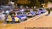 Deutschland Bautzen Polizei bei Konflikt Flüchtlinge vs Rechte