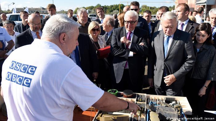 Ukraine Kiew Treffen Steinmeier Ayrault in Kramotorsk 15.09.2016