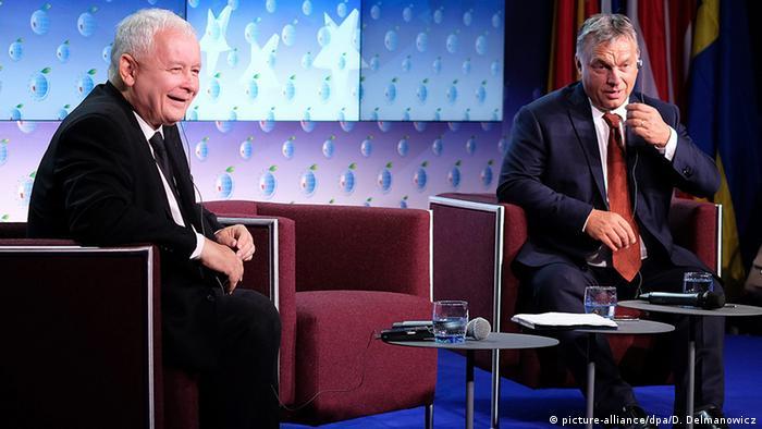 Jaroslaw Kaczynski i Viktor Orban (picture-alliance/dpa/D. Delmanowicz)